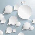 White thought and speech bubbles on the grey background eps file Stock Photos