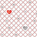 White tiles texture with hearts seamless square background love lonely st valentin s day pattern abstract Stock Photos