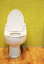 White toilet Stock Image