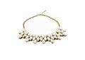 White tone gem necklace isolated Royalty Free Stock Photo
