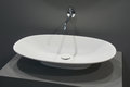 White top washbasin Royalty Free Stock Photo