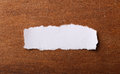 White Torn Paper Royalty Free Stock Photo
