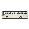 White tourist bus isolated on Royalty Free Stock Photos