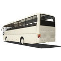 White tourist bus isolated Royalty Free Stock Photo