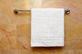 White towel clean on the rack Royalty Free Stock Photos