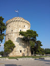 White tower in salonika greece medieval Stock Image