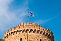 The white tower at thessaloniki city in greece Stock Photography