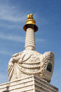 White tower in a Tibetan lamasery Stock Image
