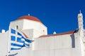 White traditional church in mykonos island greece Stock Photo