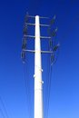 White transmission tower Royalty Free Stock Images
