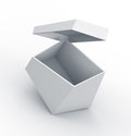 White trapezoid box. Royalty Free Stock Photo