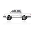 White Truck Royalty Free Stock Photo