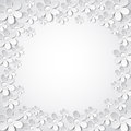 White valentine background with many flowers vec vector illustration Royalty Free Stock Photos
