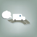 White van this is file of eps format Royalty Free Stock Photography