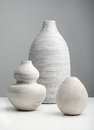 White vases on a surface Royalty Free Stock Photo
