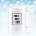White vector coffee mug
