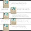 White vector paper numbered banners Royalty Free Stock Image