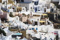 White village of fira in santorini cyclades islands greece Stock Image