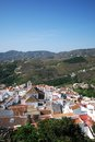 White village frigiliana andalusia view of and surrounding countryside malaga province andalucia spain western europe Stock Photography