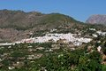 White village frigiliana andalusia view of and surrounding countryside malaga province andalucia spain western europe Stock Photo