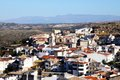 White village loja andalusia spain view over the town rooftops towards the mountains granada province western europe Royalty Free Stock Photography