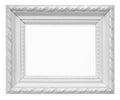 White vintage art frame isolated on white background