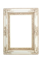 White vintage frame isolated on white background