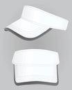 White visor cap vector
