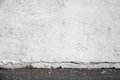 White wall and asphalt pavement urban interior background Royalty Free Stock Photography