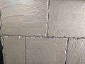 White wall bricks ridges worn forming a good for backgrounds Royalty Free Stock Image