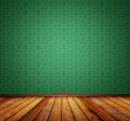 White wall brown wooden floor and Royalty Free Stock Photo