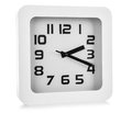 White wall clock on background Royalty Free Stock Photos