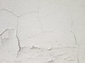 White wall with cracks Royalty Free Stock Photo