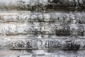 White wall texture detail in Angkor wat Royalty Free Stock Photography