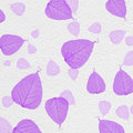 White wall texture with purple leaf paint Royalty Free Stock Photo