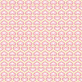 White wallpaper with pink hearts. Pattern for Valentines day greeting. Vector pattern fond.