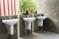 White washbasin Royalty Free Stock Photo