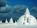 White washed roof top Cathedral of Leon Nicaragua Central Americ