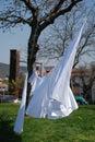 White Washing on Line Royalty Free Stock Photo