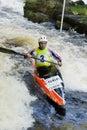 White Water Canoeist Royalty Free Stock Photo