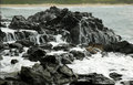 White Water on Lava Rock Royalty Free Stock Photos