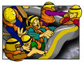 White Water Rafting Royalty Free Stock Image