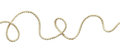 White wavy rope Royalty Free Stock Photo