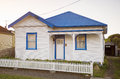 White weatherboard house Royalty Free Stock Photo