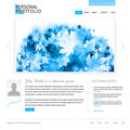 White website template Stock Photos