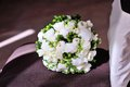 White wedding bouquet on background Royalty Free Stock Images