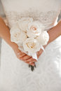 White wedding bouquet bride holding a Stock Photos