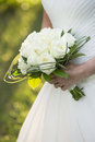 White Wedding bouquet closeup Stock Images