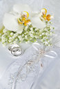 White wedding orchids Royalty Free Stock Photos