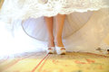 White Wedding Shoes Stock Image